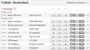 Wie endet der 1. Spieltag der 1. Bundesliga? (stand: 01.07.2015)