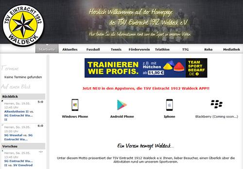 Eintracht Waldeck Webseite