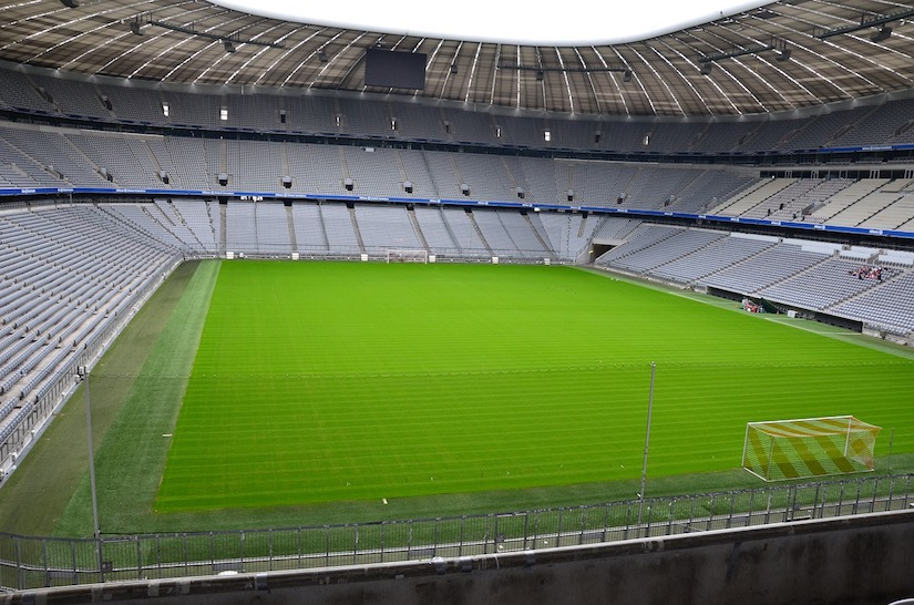 Leeres Stadion des FC Bayern München