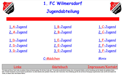 FC Wilmersdorf Webseite