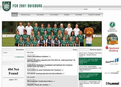 FCR 2001 Duisburg Webseite