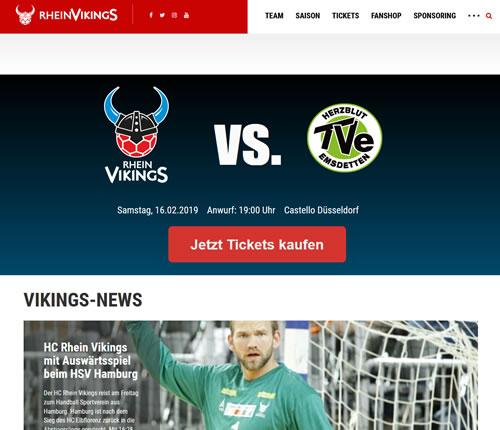 Rhein Vikings Webseite