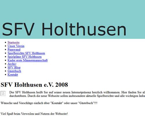 SFV Holthusen Webseite