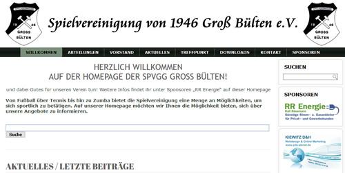 SpVgg Gross Bülten Webseite