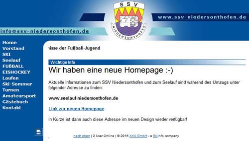 SSV Niedersonthofen Webseite