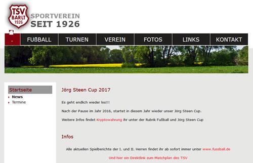TSV Barlt Webseite