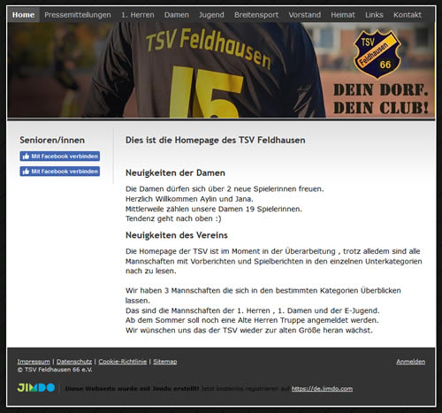 TSV Feldhausen Webseite