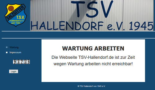 TSV Hallendorf Webseite