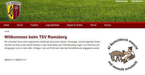 TSV Ramsberg Webseite
