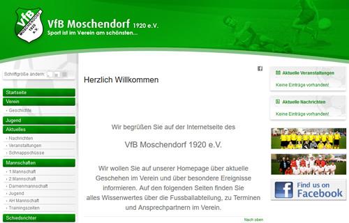 VfB Moschendorf Webseite